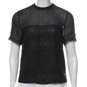 AllSaints Embroidered Top
